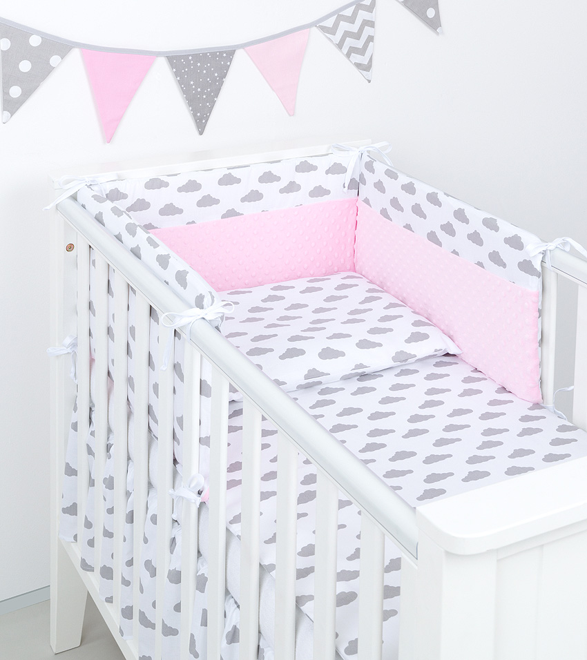 3 tlg bettw sche mit nestchen minky baby set 135x100 f r kinderbett 70x140 neu 4 ebay. Black Bedroom Furniture Sets. Home Design Ideas